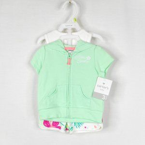 Carters Baby Girl Sz 3 Months 3 Piece Outfit